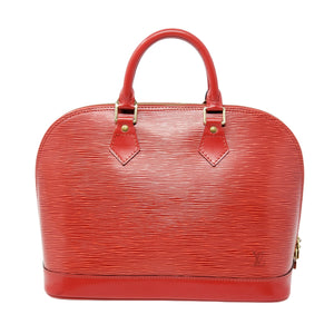 Louis Vuitton Alma PM Red Epi Leather Handbag - Luxury Cheaper