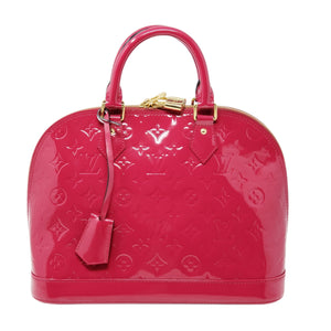 Louis Vuitton Alma PM Vernis Fuchsia Hand Bag.