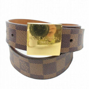 Louis Vuitton Belt Ceinture Carre Damier Goldtone - Luxury Cheaper