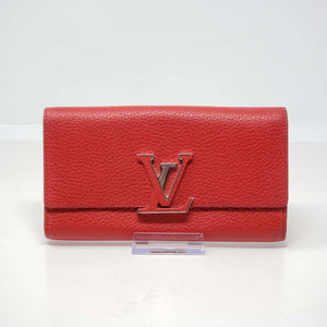 Louis Vuitton Capucines Red Wallet.