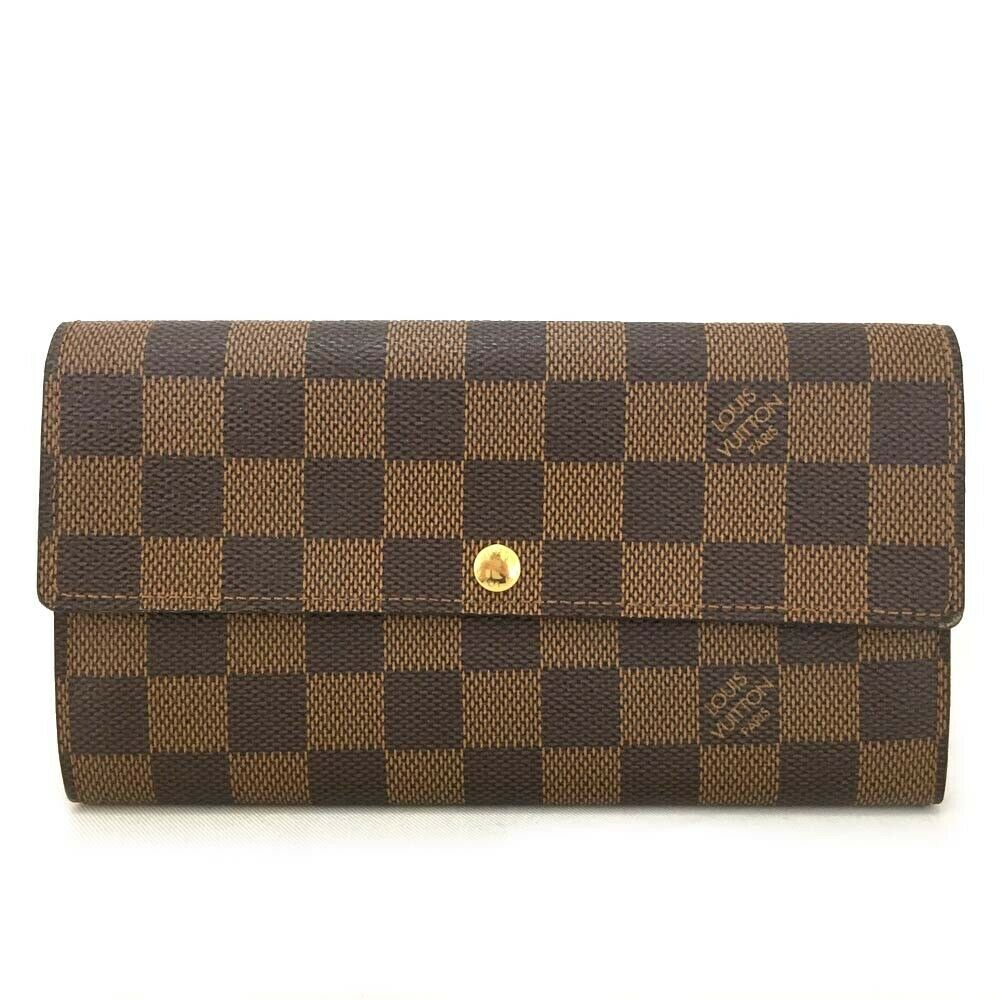 Louis Vuitton Damier Ebene Sarah Bifol Wallet - Luxury Cheaper
