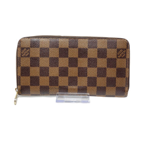 Louis Vuitton Damier Ebene Zippy Wallet.