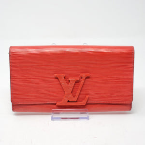 Louis Vuitton Epi Leather Red Bifold Wallet.
