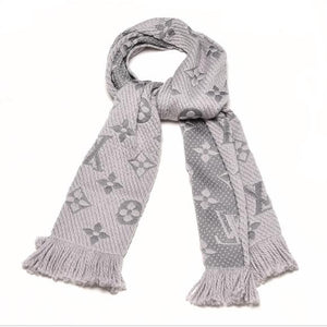Louis Vuitton Logomania Gray Scarf NEW - Luxury Cheaper