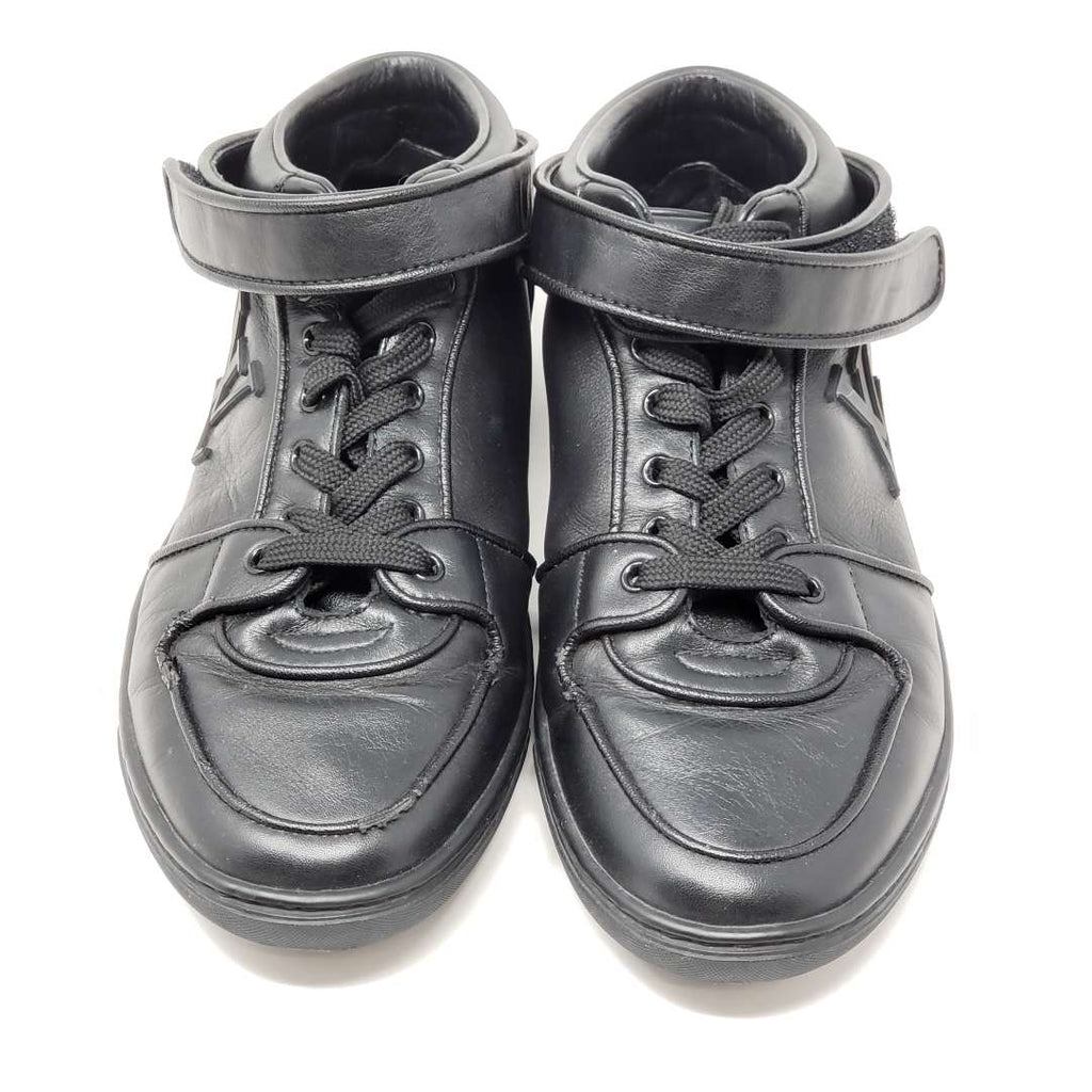 LOUIS VUITTON LV Leather Black Sneakers Women.