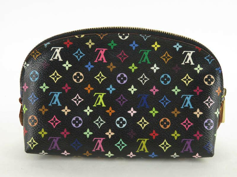 LOUIS VUITTON  MONOGRAM NOIR COSMETIC POUCH.