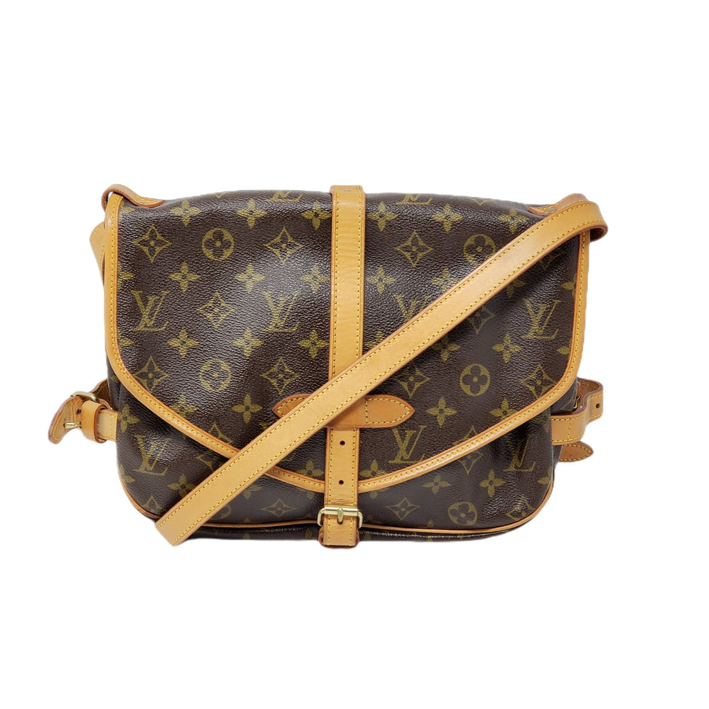 LOUIS VUITTON MONOGRAM SAUMUR 30 CROSSBODY BAG - Luxury Cheaper