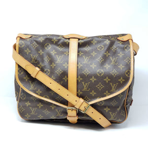 LOUIS VUITTON MONOGRAM SAUMUR 35 CROSSBODY BAG - Luxury Cheaper
