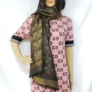 Louis Vuitton Monogram Shine Shawl Big Brown NEW - Luxury Cheaper