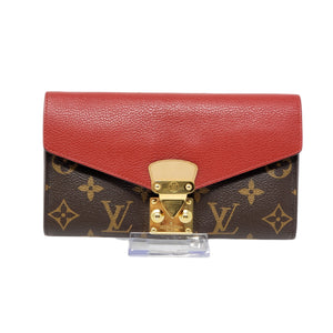 Louis Vuitton Pallas Bifold Red Monogram Wallet.