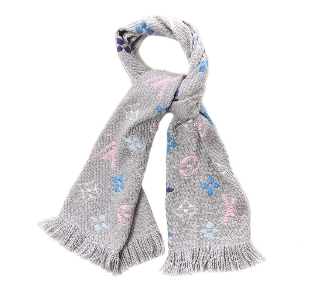 Louis Vuitton Rainbow Logomania Scarf Wool & Silk - Luxury Cheaper