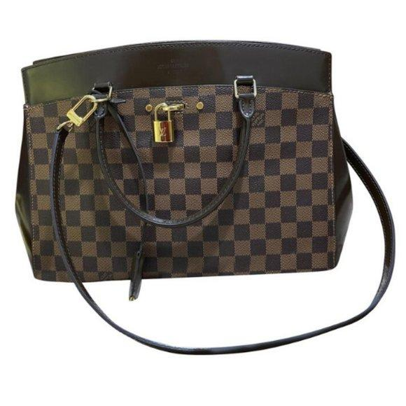 Louis Vuitton Rivoli Brown Satchel Bag.