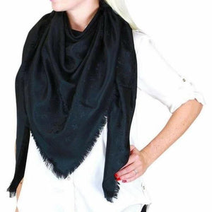 Louis Vuitton Shine Shawl Black - Luxury Cheaper