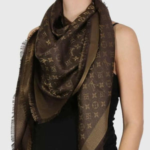 Louis Vuitton Shine Shawl Monogram Brown - Luxury Cheaper
