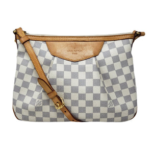 Louis Vuitton Siracusa MM Damier Azur Cross Body.