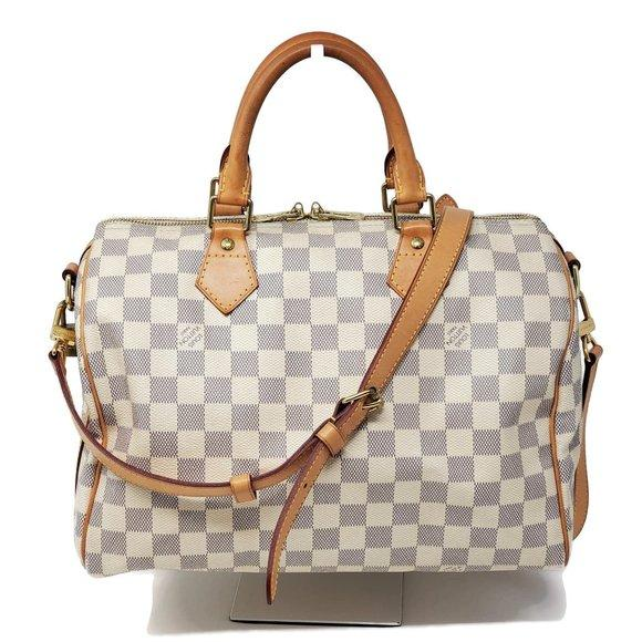 Louis Vuitton Speedy 30 BANDOULIERE Damier Azur - Luxury Cheaper