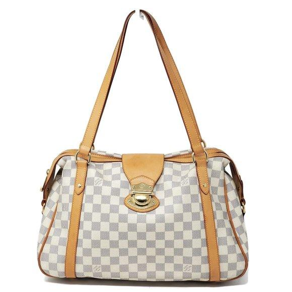 Louis Vuitton Stresa PM Damier Azur Shoulder Bag.