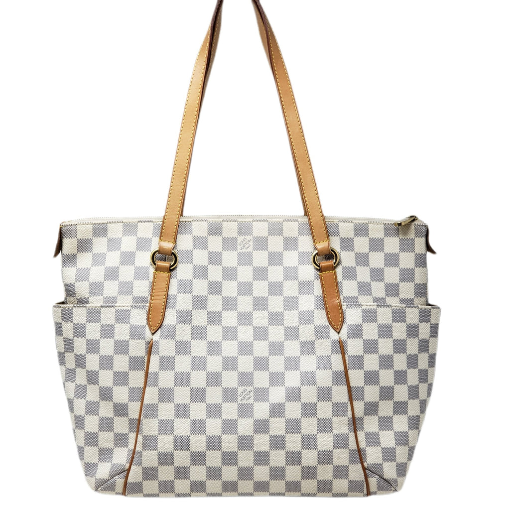 Louis Vuitton Totally MM Damier Azur Tote Bag.