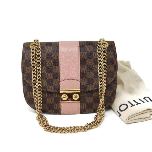 Louis Vuitton Wight Damier Ebene Crossbody & Shoulder Bag.