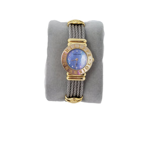 PHILIPPE CHARRIOL ST. TROPEZ WATCH GOLD PLATED - Luxury Cheaper