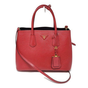 Prada Cuir Double Saffiano Medium Cross body Bag.