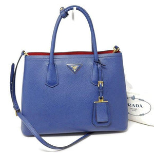 Prada Double Cuir Saffiano Medium Cross body Bag.