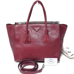 Prada Leather Satchel Bag.