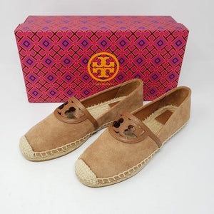 Tory Burch Leather Suade Espadrille Shoes Brand New.