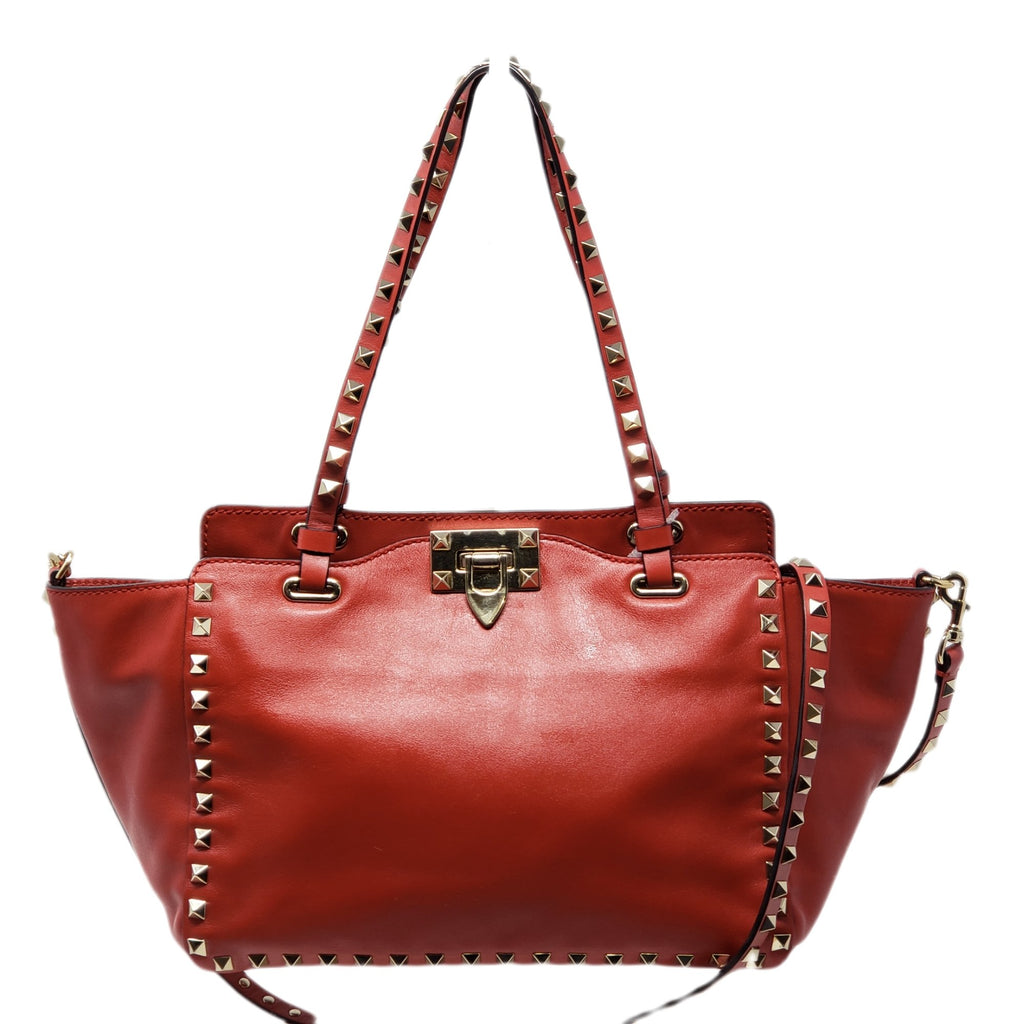 Valentino Small Rockstud Red Cross body Bag.