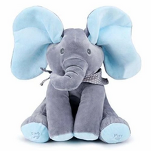 Load image into Gallery viewer, Peeking Elephant Musical Plush Toy