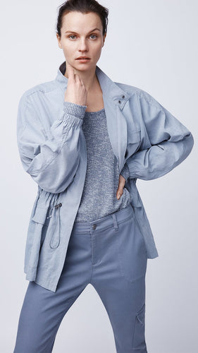 Women's Oversized Jacket with Waist Cord by b new york