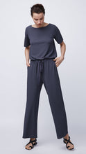 Load image into Gallery viewer, Women's Short Sleeved Jumpsuit in Navy by b new york