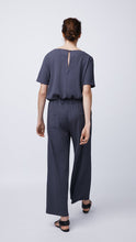 Load image into Gallery viewer, Short-Sleeve Jumpsuit in Night - Women's Apparel | b New York