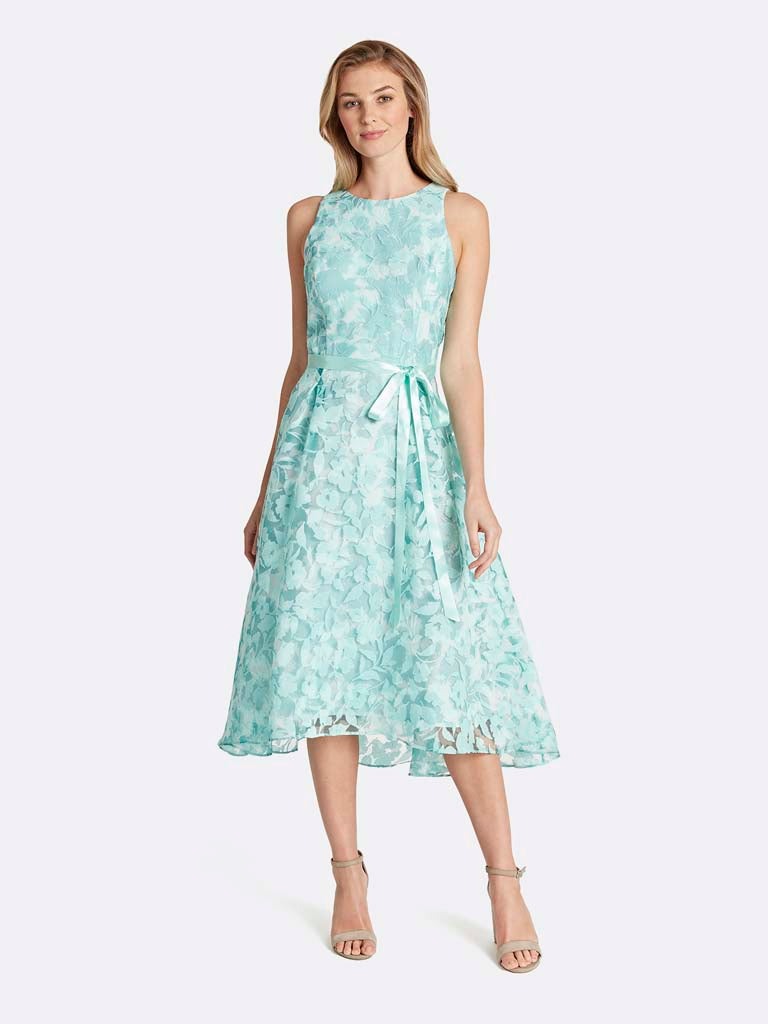 Plus Floral Flared-Skirt Dress