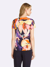 Load image into Gallery viewer, Draped Abstract Floral Top
