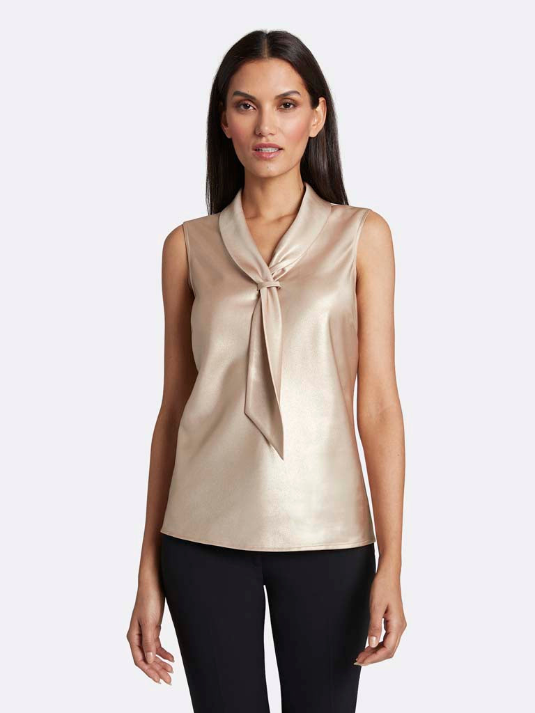 Foil Sailor-Tie Top