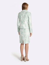 Load image into Gallery viewer, Plus Jacquard Portrait Collar Skirt Suit