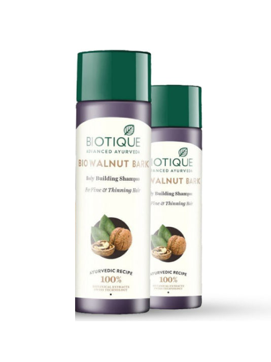 (Biotique) Bio Walnut Bark Volumizing Shampoo For Fine & Thinning Hair