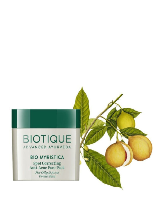 (Biotique) Bio Myristica Spot Correcting Anti-Acne Face Pack (20gm)