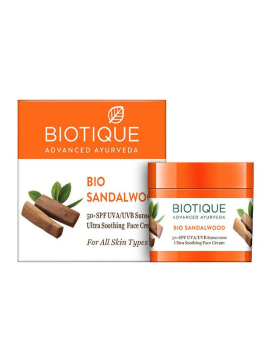 Biotique Bio Sandalwood Ultra Soothing Face Cream Spf 50+ Sunscreen (50ml)