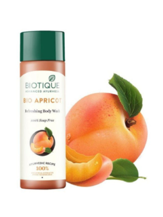 Biotique Bio Apricot Refreshing Body Wash 100% Soap Free (190ml)