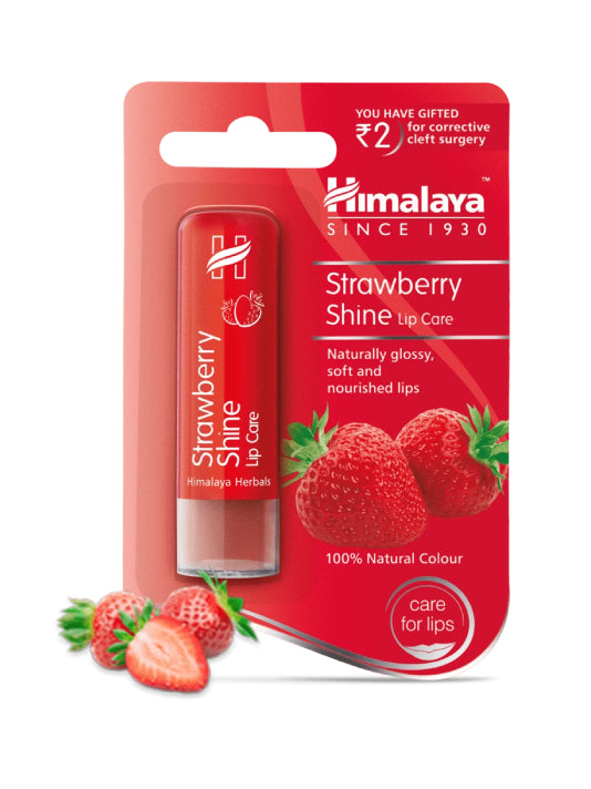 (Himalaya) Strawberry Shine Lip Care (4.5g)