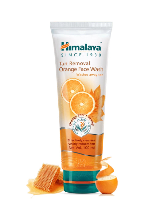 (Himalaya) Tan Removal Orange Face Wash (100ml)