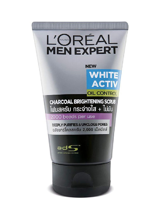 (L'Oreal Paris Men) Expert White Activ Charcoal Brightening Scrub (100ml)