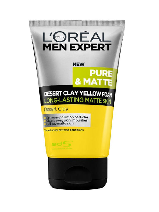 (L'Oreal Paris Men) Men Expert Pure & Matte Desert Clay Yellow Foam (100ml)