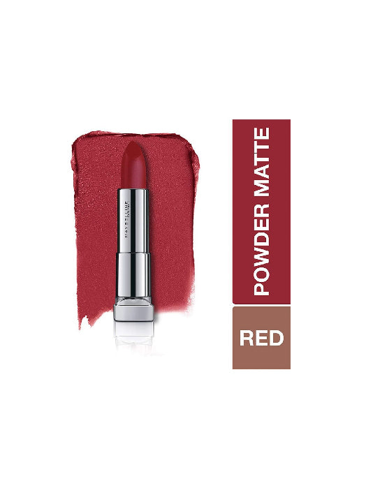 (Maybelline New York) Color Sensational Powder Matte Lipstick - Cherry Chic (3.9gm)