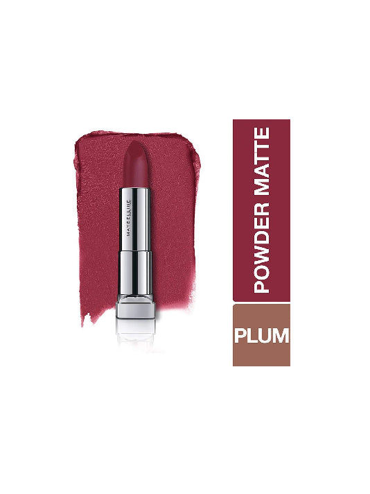 (Maybelline New York) Color Sensational Powder Matte Lipstick - Plum Perfection (3.9gm)