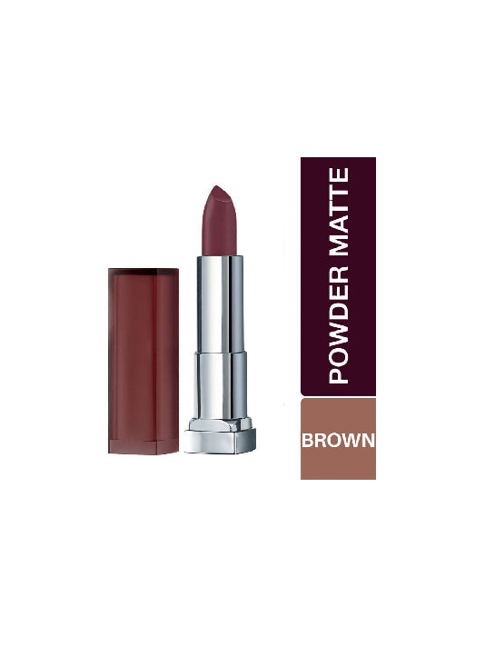 (Maybelline New York) Color Sensational Powder Matte Lipstick - Rosewood Red (3.9gm)