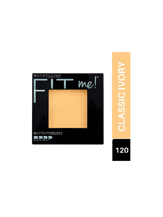 (Maybelline New York) Fit Me! Matte & Poreless Powder - 120 Classic Ivory(8.5g )