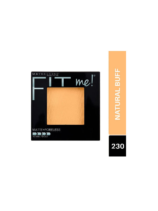 (Maybelline New York) Fit Me! Matte & Poreless Powder - 230 Natural Buff (8.5g)